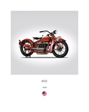 Indian 402 1930 Giclee Print by Mark Rogan