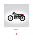Harley Davidson XR 750 1972 Giclee Print by Mark Rogan