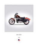 Harley Davidson XR 1000 1984 Giclee Print by Mark Rogan