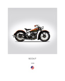 Indian Scout 1938 Giclee-vedos tekijänä Mark Rogan