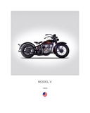 Harley Davidson Model V 1930 Giclee Print by Mark Rogan