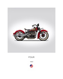 Indian Four 1940 Giclee-vedos tekijänä Mark Rogan