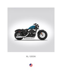 Harley Davidson XL 1200X Forty Giclee Print by Mark Rogan