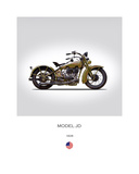 Harley Davidson Model JD 1928 Giclee Print by Mark Rogan