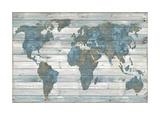 World on Wood Giclée-tryk af Jamie MacDowell