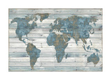 World on Wood Giclee Print by Jamie MacDowell