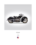 Indian Four 1938 Giclee-vedos tekijänä Mark Rogan