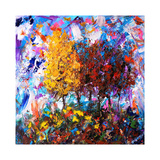 Orange and Red Tree Giclée-tryk af Joseph Marshal Foster