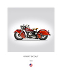 Indian Sport Scout 1940 Giclee Print by Mark Rogan