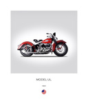 Harley Davidson Model UL 1941 Giclee Print by Mark Rogan
