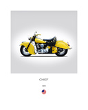 Indian Chief 1951 Giclee Print by Mark Rogan