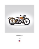 Harley Davidson Model B 1932 Giclee Print by Mark Rogan