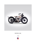 Harley Davidson Model BA 1928 Giclee Print by Mark Rogan
