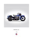 Harley Davidson Model EL 1948 Giclée-tryk af Mark Rogan