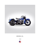 Harley Davidson Model EL 1948 Giclee Print by Mark Rogan
