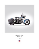 HD Model FLH Duo Glide 1958 Giclee Print by Mark Rogan