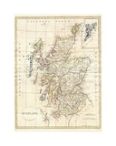 Map of Scotland Giclée-tryk af Dan Sproul