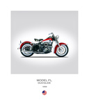 Harley Davidson Model FL Duo G Giclee Print by Mark Rogan