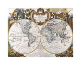 Mappe Monde-1744 Giclee Print by Dan Sproul