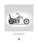 Harley Davidson Captain Americ Giclée-tryk af Mark Rogan