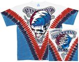 Grateful Dead- Good Ol' Stealie V-Dye (Front/Back) T-Shirt