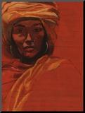 Bibi Russel, Artiste de l'Unesco Paix Mounted Print by Titouan Lamazou