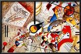 Livlig akvarell, ca 1923 Konst av Wassily Kandinsky
