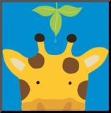Borte-tit-tit VII, giraf Monteret tryk af Yuko Lau