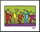 Untitled, 1987 (dance) Lámina montada en tabla por Keith Haring