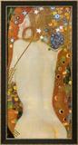Vattenormar IV, ca 1907 Planscher av Gustav Klimt
