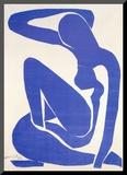 Blue Nude I, c.1952 Montert trykk av Henri Matisse