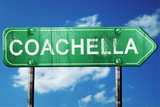 Coachella Road Sign , Worn and Damaged Look Photographic Print by  argus456