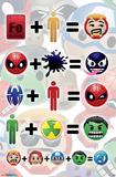 Marvel- Emoji Arithmetic Posters