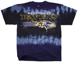 NFL: Baltimore Ravens- Horizontal Stencil T-skjorte