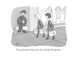 """I've got Ivanka Trump shoes here, Ivanka Trump shoes."" - New Yorker Cartoon Premium Giclee Print by Peter C. Vey"