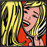 Girl in Mirror, c.1963 Stampa di Roy Lichtenstein