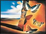 Landskap med sommerfugler|Landcape with Butterflies Posters av Salvador Dalí