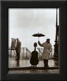 Músico bajo la lluvia Arte por Robert Doisneau