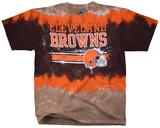 NFL: Cleveland Browns- Horizontal Stencil Skjorte