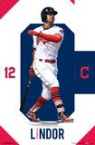 MLB: Cleveland Indians- Francisco Lindor Print