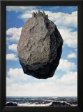 Le Chateau des Pyrennees Posters av Rene Magritte
