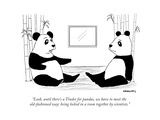 """Look, until there's a Tinder for pandas, we have to meet the old-fashione..."" - New Yorker Cartoon Premium Giclee Print by Alex Gregory"