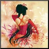 Miss Swan Affiche montée sur bois par  Misstigri