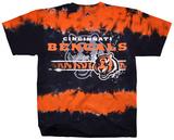 NFL: Cincinnati Bengals- Horizontal Stencil T-skjorter