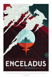 NASA/JPL: Visions Of The Future - Enceladus Print
