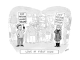 Love at First Sign - Cartoon Regular Giclee Print by Tom Toro
