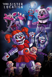 Five Nights at Freddy's- Sister Location Group Stampe
