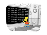 """I will study hard unlike Betsy DeVos."" - Cartoon Premium Giclee Print by Tom Toro"