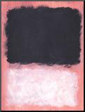 ohne Titel, 1967 Druck aufgezogen auf Holzplatte von Mark Rothko