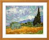 Wheatfield with Cypresses, ca. 1889 Plakater af Vincent van Gogh